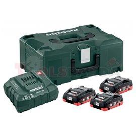 Базов комплект акумулатори 18V ASC 30-36 + 3x4.0 Ah LiHD + Metaloc II