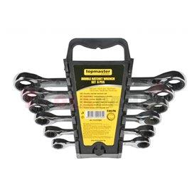 Ключове с тресчотка к-т 6 бр. DOUBLE TMP | Topmaster Pro