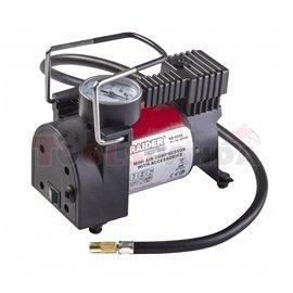 Компресор 12V DC метален 120W 35L/min с аксесоари RD-AC05 | RAIDER