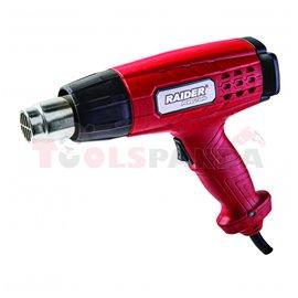 Пистолет за горещ въздух 2000W 2степ. аксес. RD-HG14 | RAIDER