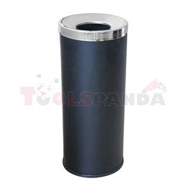 Кош за отпадъци черен 25.5x25.5x61см.