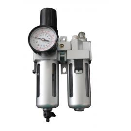 Пневматичен регулатор с филтър двоен (подготвителна група) | ZIMBER TOOLS