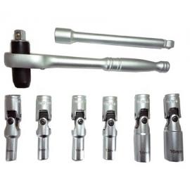 Ключове за свещи с динамометрична тресчотка к-т | ZIMBER TOOLS
