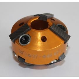 Фреза за леглата на клапани 37-46мм.60° и 45° (резервна част от к-т: ZR-36VRST, ZR-36VRST10). | ZIMBER TOOLS