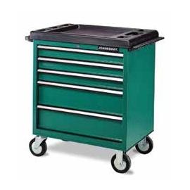 Инструментална количка с 5 чекмеджета - оборудвана | JONNESWAY