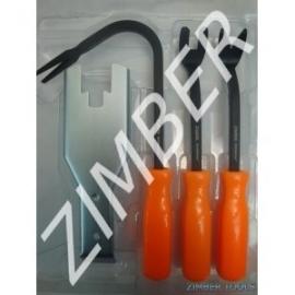 Комплект за изваждане на щипки 4 части к-т | ZIMBER TOOLS