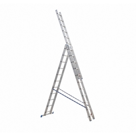 Стълба алуминиева трираменна комбинирана PROFI (3X14)
