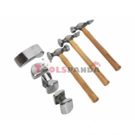 Чукове и наковални - Комплект за изправяне на ламарина, 7 бр | SEALEY