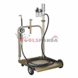 Пневматична маслена помпа с диспенсер и количка за големи варели | SEALEY