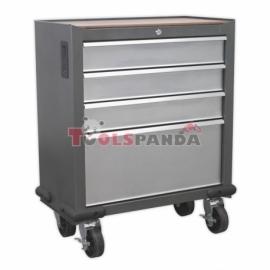 Количка за инструменти необорудвана, 3 малки и 1 голямо чекмедже, 710x360x838mm(ширина, дължина,височина) | SEALEY