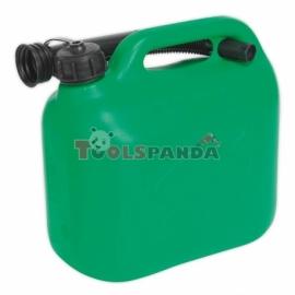Туба за гориво 5 литра зелена | SEALEY