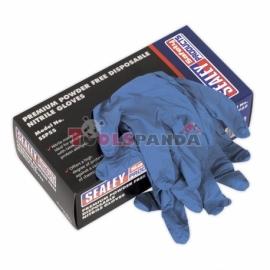 Ръкавици нитрилни размер L 100 броя в опаковка | SEALEY