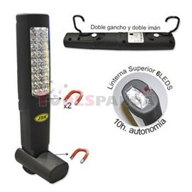 Лампа диодна магнитна преносима 24+6