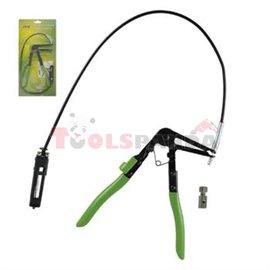 Инструмент за скоби на маркучи с жило