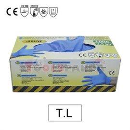 Ръкавици нитрилни сини 50 чифта L кутия