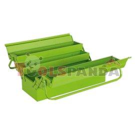 Сандък за инструменти, разгъваем 4 отделения 530 мм. Зелен