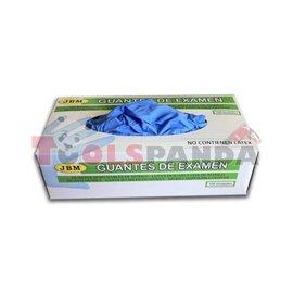 Сини нитрилни ръкавици /L/,100 броя | JBM
