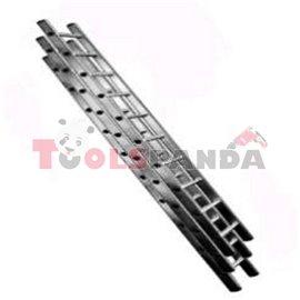 Стълба трираменна 3x11 стъпала 48 х 15.5 х325см. 10.2м. 3x12 стъпала