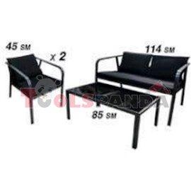 Градински мебели маса със стол и двойка 469