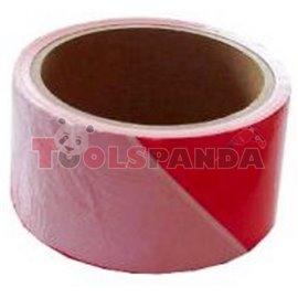 Маркировъчна лента 7см.х200м. Червено/бяло