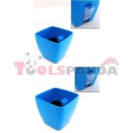 Саксия PVC SQ 0150 15x15 с нивомер
