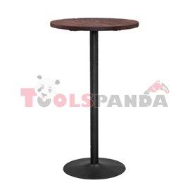 Бар маса кръгла ф60x105см. метал/дърво