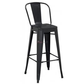 Бар стол метален черен мат 46x43x107см.