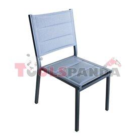 Стол с алуминиева рамка и двоен текстил светло сив GLORY GOMFORT