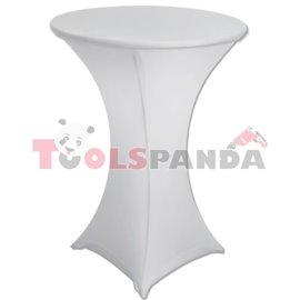 Еластант за коктейлна маса бял