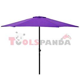Чадър градински 2.5м. лилав