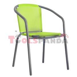 Стол със зелена мрежа и сива рамка 58x53x77см.