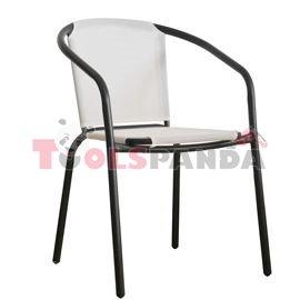 Стол с бяла мрежа и черна рамка 58x53x77см.