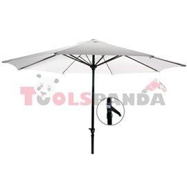Чадър градински 2.5м. бял
