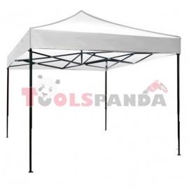 Сгъваема метална шатра 3x3м. бяла