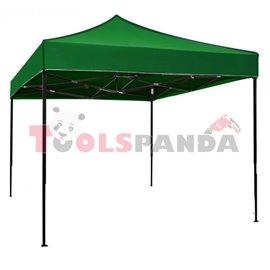 Сгъваема метална шатра 3x3м. зелена