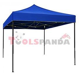 Сгъваема метална шатра 3x3м. синя