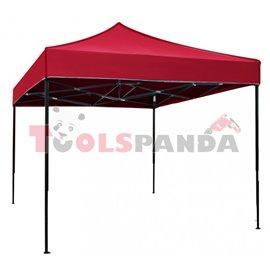 Сгъваема метална шатра 3x3м. червена