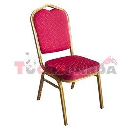 Кетъринг стол метален с червена седалка 45x51x92см.