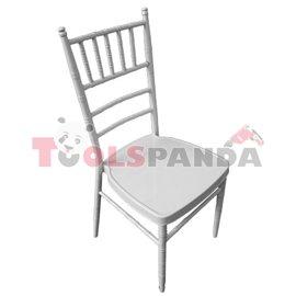 Кетъринг стол метален бял 39x41x92см.