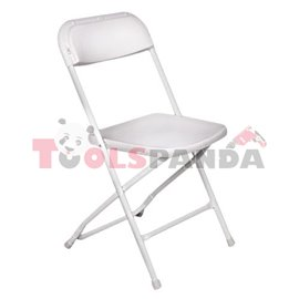 Кетъринг стол сгъваем класик бял