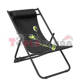 Стол плажен FLOWER 7 черен 3-позиционен