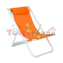 Стол плажен FLOWER 7 оранжев 3-позиционен