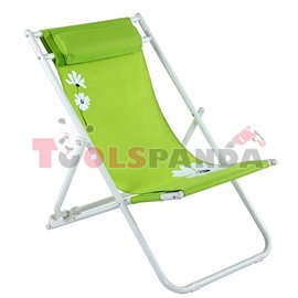Стол плажен FLOWER 37 зелен 3-позиционен