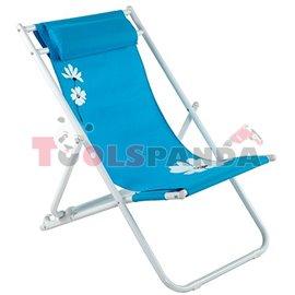 Стол плажен FLOWER 37 син 3-позиционен