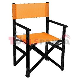 Стол режисьорски алуминиев сгъваем оранжев