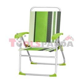 Стол алуминиев за къмпинг 8-позиционен - зелен