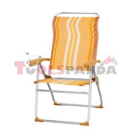 Стол алуминиев за къмпинг 8-позиционен - оранжев