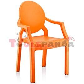 Детско столче с подлакътник оранжево 31x33x65см.