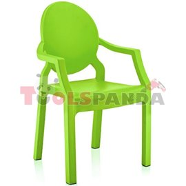 Детско столче с подлакътник светло зелено 31x33x65см.