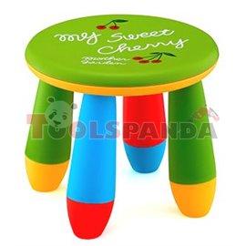 Детско столче пластмасово кръг зелен